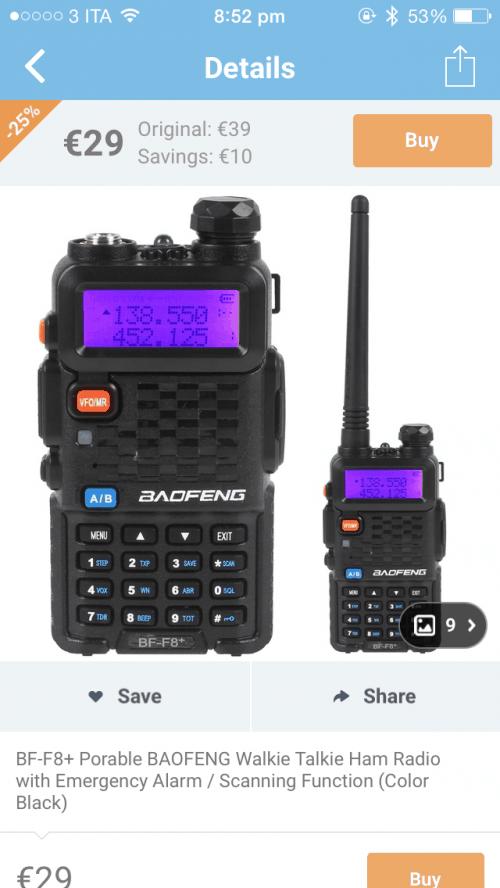 imperdibile walkie-talkie